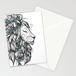 Poetic Lion Turquoise Stationery Cards