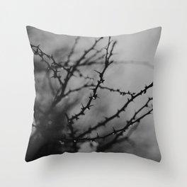 Winter drop Throw Pillow