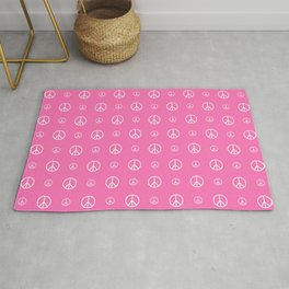 Peace and love 5 - pink Rug