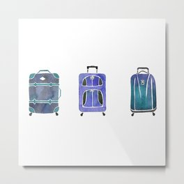 Let's Go Somewhere - Blue Metal Print