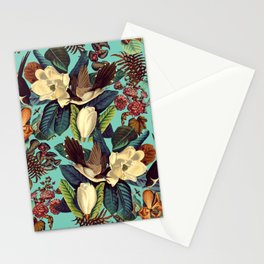 FLORAL AND BIRDS XXI Stationery Cards