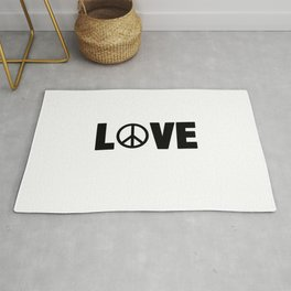 Hippie Love | Peace Hippie Sign Gift Idea Rug