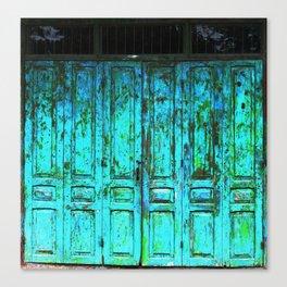 Turquoise Doors Canvas Print