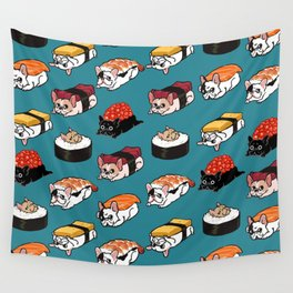 Sushi Frenchie Wall Tapestry