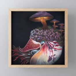 Hadal Borealis Framed Mini Art Print