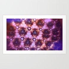 Kaleidoscope in Pink Art Print