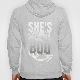 Halloween Couples Funny SHe's My Boo Ghost Hoody