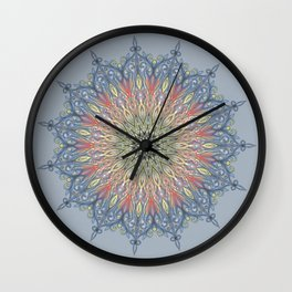 red and black Center Swirl Wall Clock