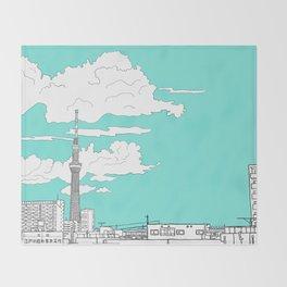 Tokyo Sky Tree Throw Blanket