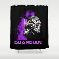 starlord Shower Curtains featuring Guardian by Spicy Monocle