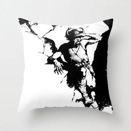 Viking Hunting Throw Pillow