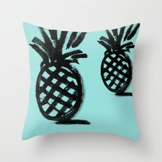 Pineapples in distance Throw Pillow
