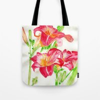 hot pink Tote Bags featuring Hot Pink by Kate Havekost Fine Art