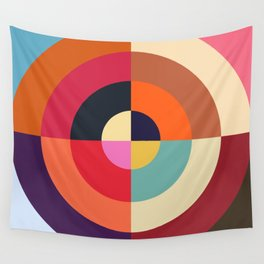 Autumn - Colorful Classic Abstract Minimal Retro 70s Style Graphic Design Wall Tapestry