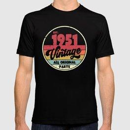 1951 Vintage Design, Birthday Gift Tee. Retro Style Product T-shirt