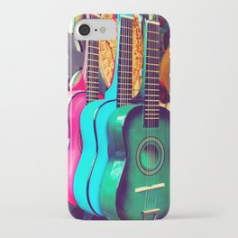 las guitarras. spanish guitars, Los Angeles photograph iPhone Case