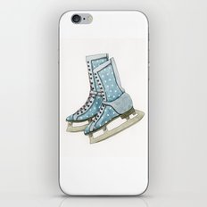 Polka dot ice skates iPhone & iPod Skin