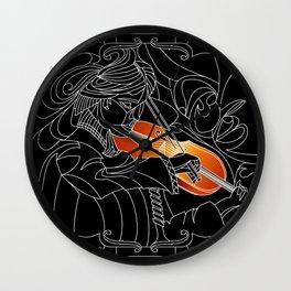 Violinist V1 Wall Clock