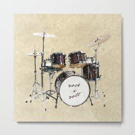 Drumkit Metal Print