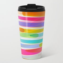 spring summer vibrant fresh abstract pattern Travel Mug