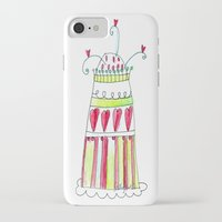 cake iPhone & iPod Cases featuring Cake by Stefania Morgante