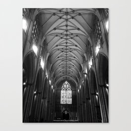 Black & White Cathedral Ceiling Canvas Print
