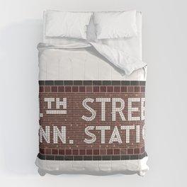 34 Street Penn Station Comforters