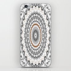 Black, Gold, and White iPhone & iPod Skin