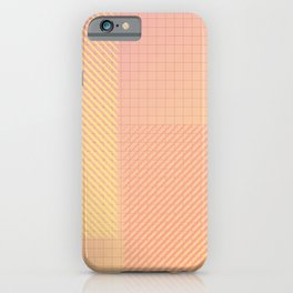 Minimalist Geometric Composition - Squares and Lines  iPhone Case