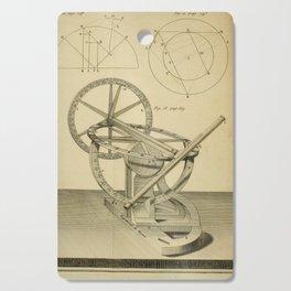 Jérôme Lalande's Astronomie (1771) - Telescope Apparatus 4 Cutting Board
