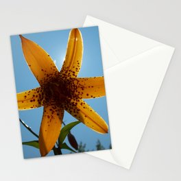 Tiger Lily Silhouette Stationery Cards