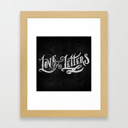 Love for Letters Framed Art Print