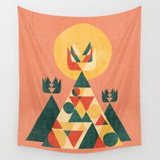 Sunset Tipi Wall Tapestry