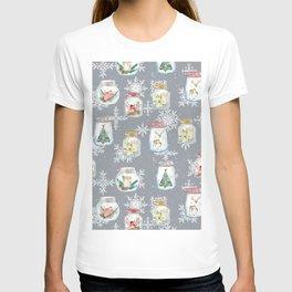 Christmas Jars Grey T-shirt