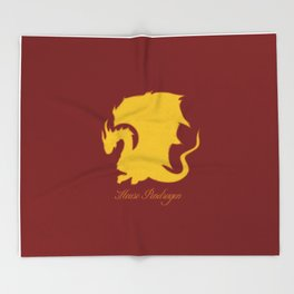 Distressed Pendragon Crest Throw Blanket