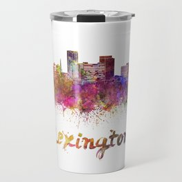 Lexington skyline in watercolor Travel Mug