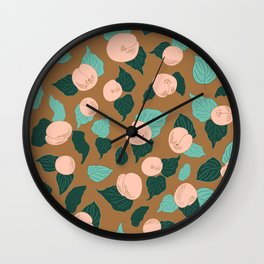 Apricot Rose Orchard delight Wall Clock