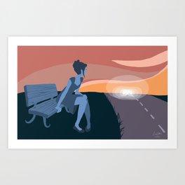 Annie Waits Art Print
