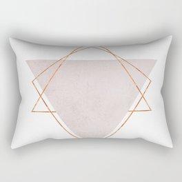 BLUSH COPPER ROSE GOLD GEOMETRIC SYNDROME II Rectangular Pillow