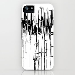 Black and White Cityscape iPhone Case