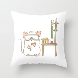 Lab Mouse Throw Pillow