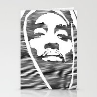 tupac Stationery Cards featuring Tupac  by Colin Douglas Gray