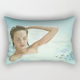 Taking A Bath Rectangular Pillow