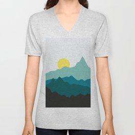 Minimalist landscape VII Unisex V-Neck