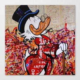 Dagobert for President (make Duckburg great again) Canvas Print