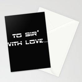 Lyrics Stationery Cards