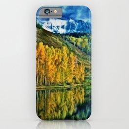 Western Rockies Aspen Forest & Lake Landscape by Jeanpaul Ferro iPhone Case