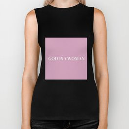 God is a woman by Ariana – pink white Biker Tank