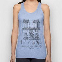 Notre Dame de Paris Unisex Tank Top