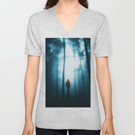 He in the Forest (Color) Unisex V-Neck